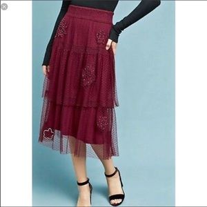 Anthropologie Akemi + Kin | Tulle Midi Skirt
